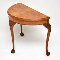 Antique Burr Walnut Console Table (3 of 9)