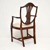 Set of 12 Mahogany Shield Back Dining Chairs (11 of 13)