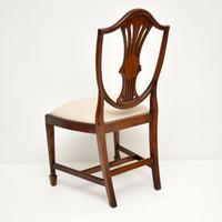 Set of 12 Mahogany Shield Back Dining Chairs (13 of 13)