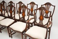 Set of 12 Mahogany Shield Back Dining Chairs (8 of 13)