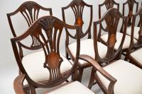Set of 12 Mahogany Shield Back Dining Chairs (9 of 13)