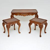 Burr Walnut Nesting Coffee Table / Side Tables c.1930 (2 of 12)
