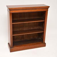 Antique Victorian Mahogany Open Bookcase (3 of 10)