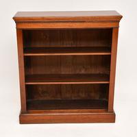 Antique Victorian Mahogany Open Bookcase (4 of 10)