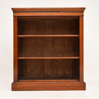 Antique Victorian Mahogany Open Bookcase (2 of 10)