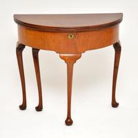 Antique Georgian Mahogany Tea Table / Console Table (2 of 9)
