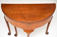 Antique Georgian Mahogany Tea Table / Console Table (4 of 9)