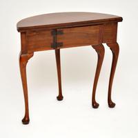 Antique Georgian Mahogany Tea Table / Console Table (9 of 9)