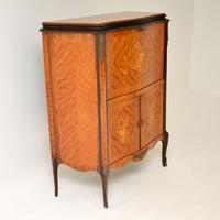 Antique French Inlaid Marquetry Drinks Cabinet (8 of 10)