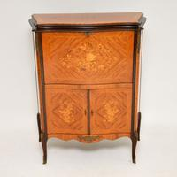 Antique French Inlaid Marquetry Drinks Cabinet (3 of 10)