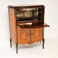 Antique French Inlaid Marquetry Drinks Cabinet (2 of 10)