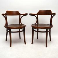 Antique Bentwood Armchairs by Thonet c.1900
