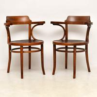 Pair of Antique Bentwood Thonet Chairs c.1900