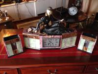 French Art Deco Clock with Garniture (2 of 6)