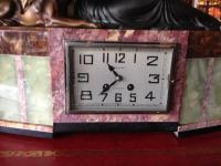 French Art Deco Clock with Garniture (4 of 6)