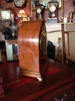 Rosewood & Inlay Lancet Top Clock, German c.1910 (2 of 5)