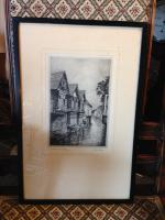 Pair of Original Etchings of Canterbury Signed by Listed Artist Adrian Hill (2 of 2)