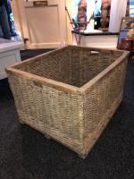 French Wicker Laundry / Mill Basket C.1890