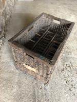Antique French Wicker Wine Basket / Carrier c.1890