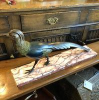 Art Deco Cold Painted Bronze Pheasant