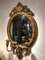 Antique Regency Gilt Mirror with Girandoles