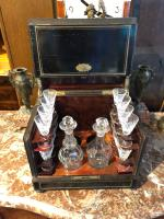 Antique Cave a Liqueur, French Tantalus Box, Empire Drinks Cabinet (5 of 9)
