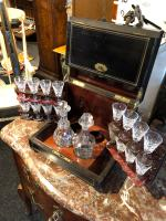 Antique Cave a Liqueur, French Tantalus Box, Empire Drinks Cabinet (9 of 9)