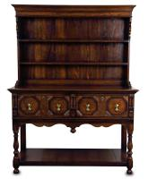 Jacobean Style Small Distressed Oak Dresser