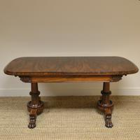 Rare Large Spectacular Figured Rosewood Antique Console Table
