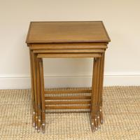 Edwardian Mellow Walnut Nest of Four Antique Tables (6 of 6)