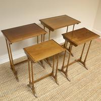 Edwardian Mellow Walnut Nest of Four Antique Tables (3 of 6)
