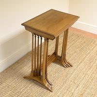 Edwardian Mellow Walnut Nest of Four Antique Tables (2 of 6)