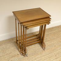 Edwardian Mellow Walnut Nest of Four Antique Tables (5 of 6)