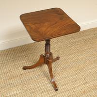 Elegant Figured Mahogany Antique Tripod Occasional Table c.1830