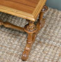 Unusual Pair of Small Victorian Walnut Antique Coffee Tables (4 of 6)