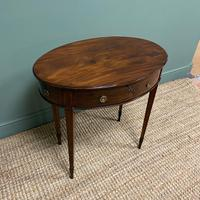 Elegant Victorian Mahogany Antique Workbox / Side Table (2 of 7)