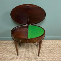 Elegant Victorian Mahogany Antique Workbox / Side Table (3 of 7)