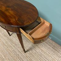Elegant Victorian Mahogany Antique Workbox / Side Table (5 of 7)