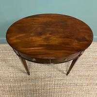 Elegant Victorian Mahogany Antique Workbox / Side Table (6 of 7)
