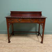 Spectacular Shapland & Petter Chinese Chippendale Antique Writing Desk
