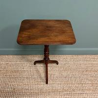 Beautifully Figured Regency Figured Mahogany Antique Tripod Occasional Table