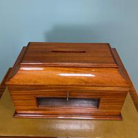 Striking Victorian Mahogany Antique Letter Box (3 of 5)
