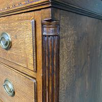 Georgian Country House Antique Oak Chest on Chest (6 of 8)