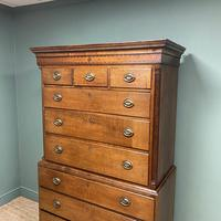 Georgian Country House Antique Oak Chest on Chest (3 of 8)
