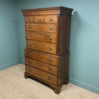 Georgian Country House Antique Oak Chest on Chest (2 of 8)