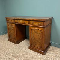 Country House Figured Mahogany Antique Victorian Pedestal Sideboard (3 of 8)
