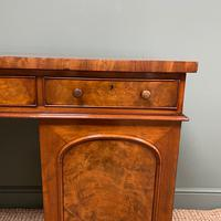 Country House Figured Mahogany Antique Victorian Pedestal Sideboard (5 of 8)