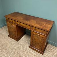 Country House Figured Mahogany Antique Victorian Pedestal Sideboard (4 of 8)