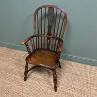 Victorian Country Oak Antique Windsor Chair (3 of 8)