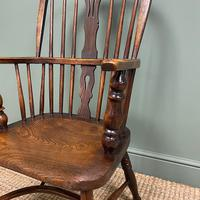 Victorian Country Oak Antique Windsor Chair (5 of 8)
